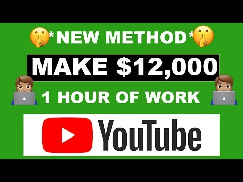 HOW TO MAKE $12,000 ON YOUTUBE IN 1 HOUR (MAKE MONEY ONLINE)