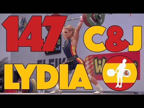 Lydia Valentin (-75kg, Spain) - 147kg Clean & Jerk