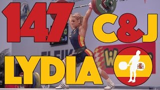 Lydia Valentin (-75kg, Spain) - 147kg Clean & Jerk