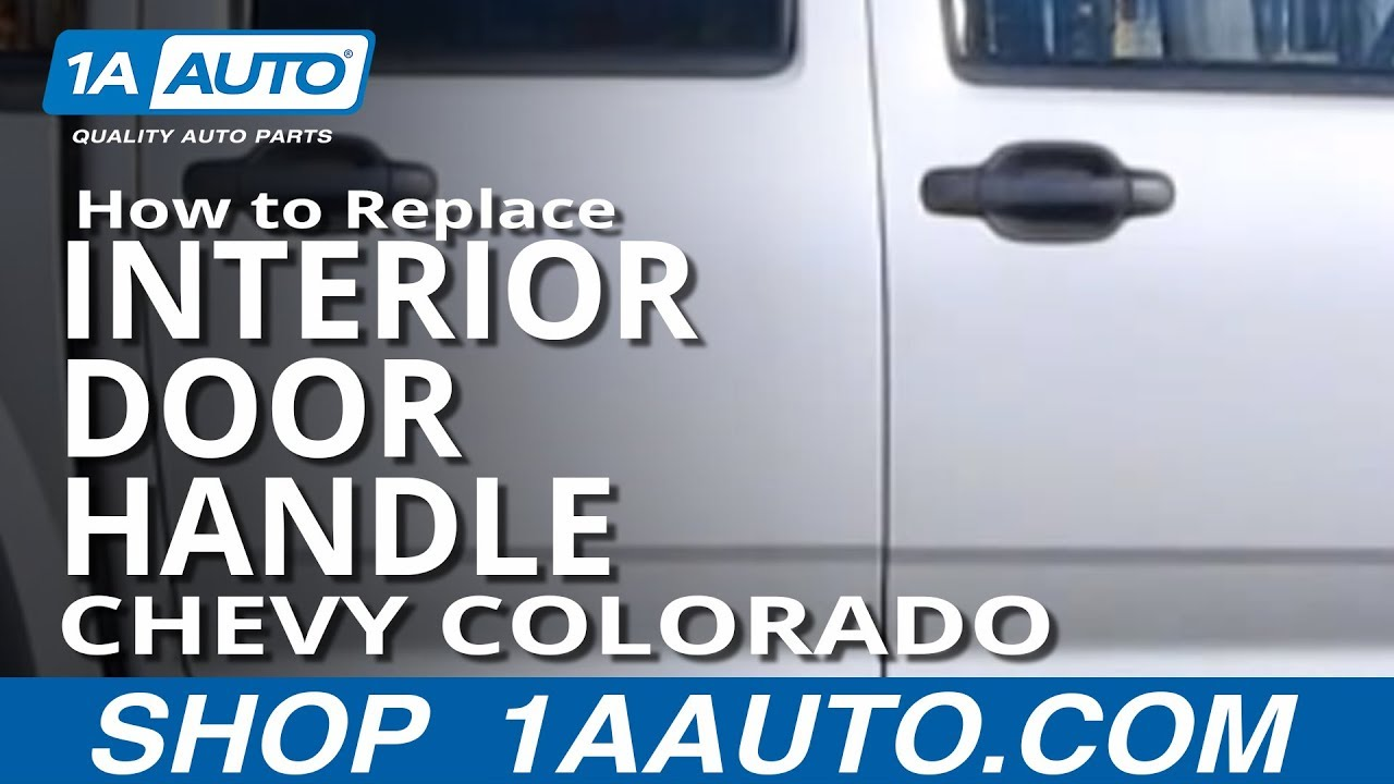 How to replace interior door handle 04 12 chevy colorado - Installing a lock on a bedroom door ...