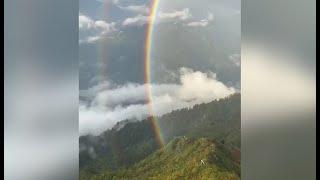 Двойную радугу наблюдали в горах Сочи
