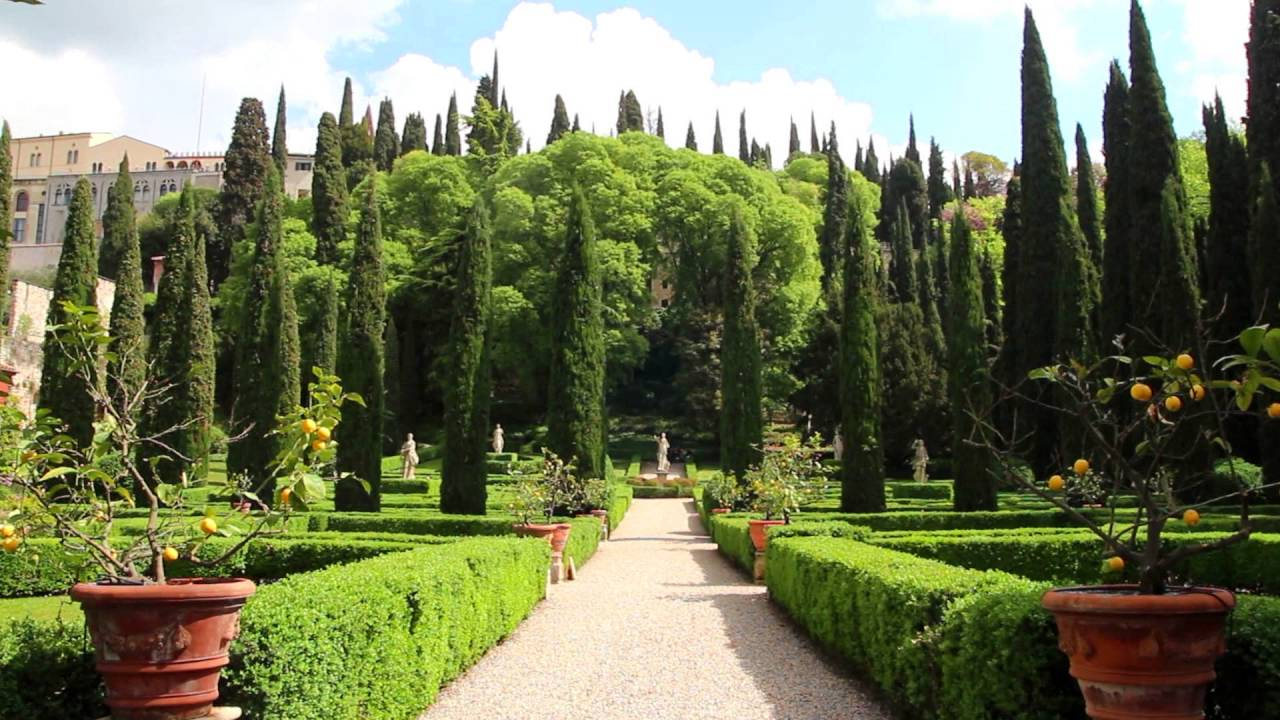 palazzo giardino giusti verona entrata e giardino youtube