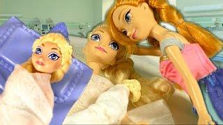 Принцеси Холодне серце: Вагітна Ельза потрапила в лікарню! Ляльки іграшки російською