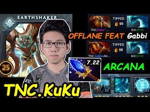 TNC KuKu - [Earthshaker] SuperStar OFFLANE Arcana Set Feat Gabbi Combo Dota 2 7.22 gameplay