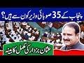 List of All Ministers of Punjab | Usman Buzdar Cabinet | Aleem Khan|Murad Ras|Dr. Yasmin Rashid
