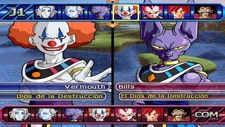 Dragon Ball Z Budokai Tenkaichi 3 - Vermouth (Payaso) Vs Bills,Whis, Jiren MOD PS2