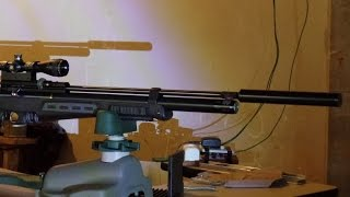 Precision 22 Air Rifle Silencer Test - Hatsan BT65 SB Elite -Teste Supressor Air Rifle Precision 22