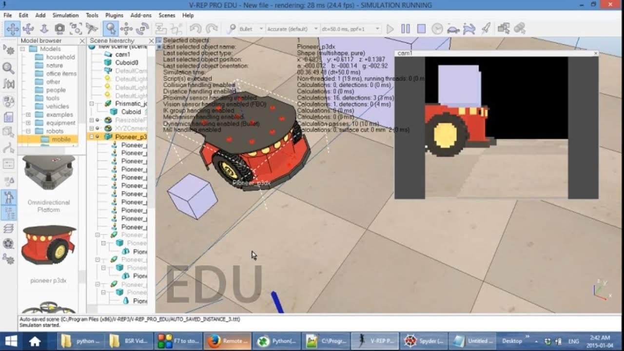 04: Python Robot Simulation with V-Rep | V-rep Tutorial