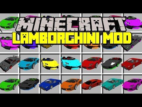 Minecraft LAMBORGHINI MOD! | AVENTADOR, HURACÁN, CENTENARIO, COUNTACH & MORE! | Modded Mini-Game
