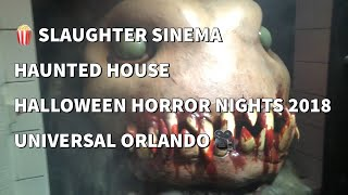 Slaughter Sinema Halloween Horror Nights 2018 Highlights Universal Studios Florida