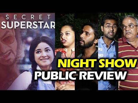 Secret Superstar PUBLIC REVIEW | Night Show HOUSEFULL | Aamir Khan, Zaira Wasim