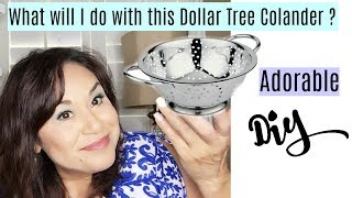 Dollar Tree Adorable Colander DIY and Review | A Colander with a different purpose must see!