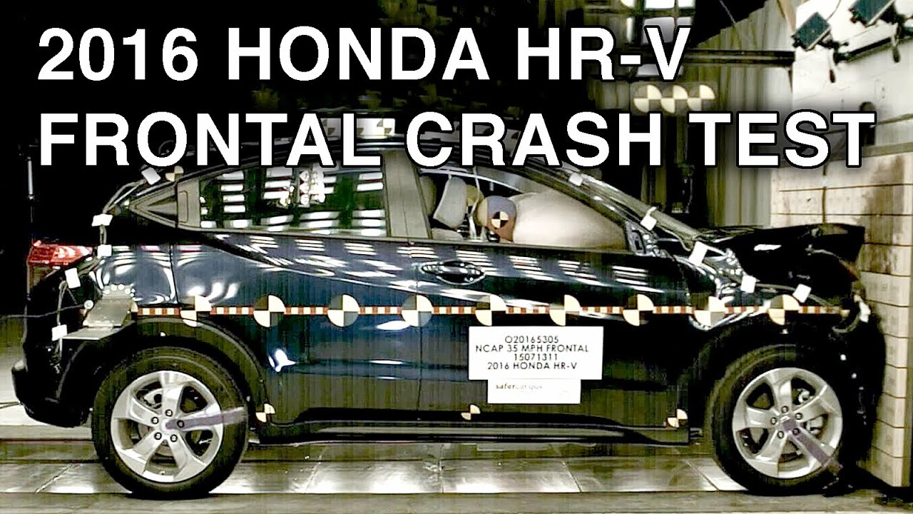 2016 honda hr v crash test frontal crash youtube for 2017 honda hr v overall nhtsa safety rating