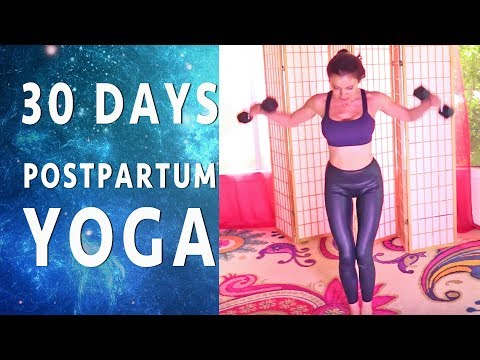 Postpartum Beginner STRENGTH & Cardio Interval Yoga Booty Upper Body Weights TVA