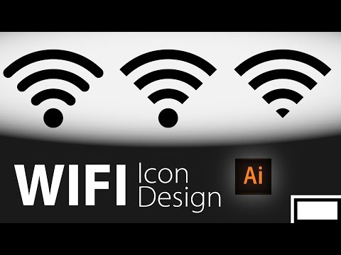 Illustrator Wifi Symbol  Tutorial | Wireless Icon Design | Illustrator Cut Path EASY Way