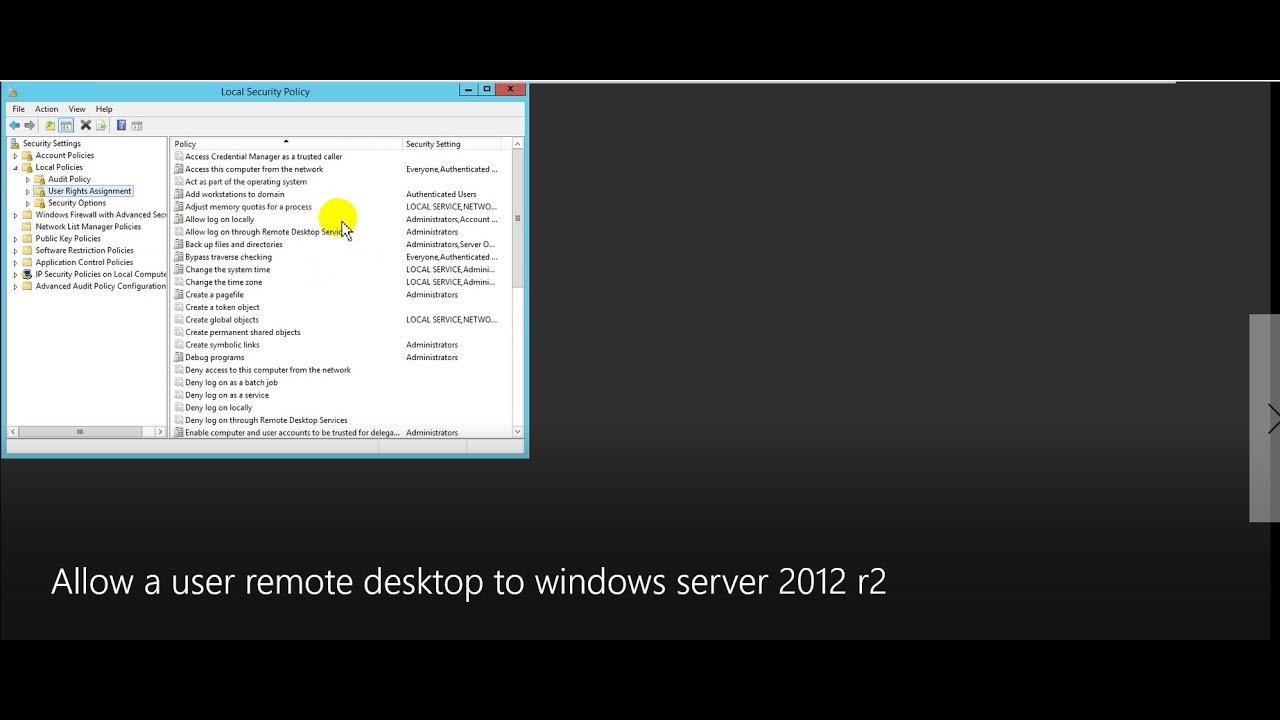 Allow A User Remote Desktop To Domain Controller On Windows Server 2017 R2 You