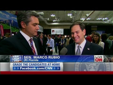 Florida Sen. Marco Rubio reacts to the debate