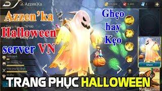Liên quân mobile Trang phục mới Halloween Azzen'ka Ghẹo hay Kẹo hiệu ứng chiêu thức ma quỷ siêu đẹp