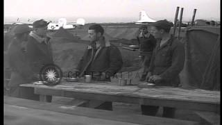Detachment-A, 21st Bomber Command of United States Army Air Force in Japanese isl...HD Stock Footage