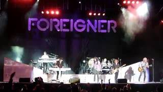 Foreigner singing Waiting For A Girl Like You Live at the PNE, Augu...