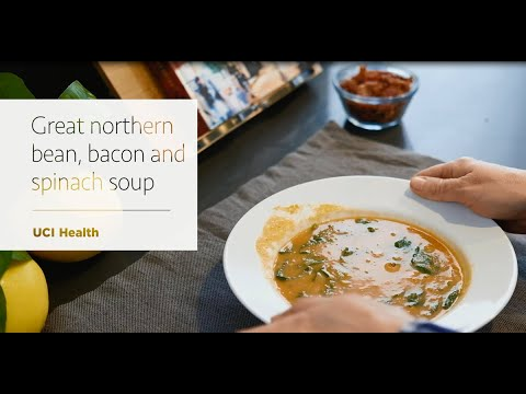 Great Northern Bean, Spinach And Bacon Soup