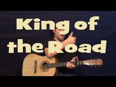 King of the Road (Roger Miller) Easy Strum Guitar Lesson Chord How ...
