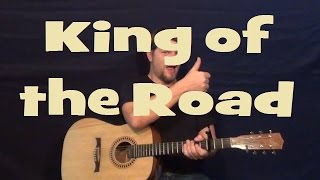 King of the Road (Roger Miller) Easy Strum Guitar Lesson Chord How to Play Tutorial King of the Road