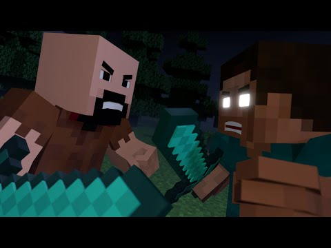 Notch vs Herobrine - Minecraft Fight Animation