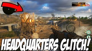 COD WW2: Get Out of The Map Easter Egg (HEADQUARTERS OUT OF MAP GLITCH)
