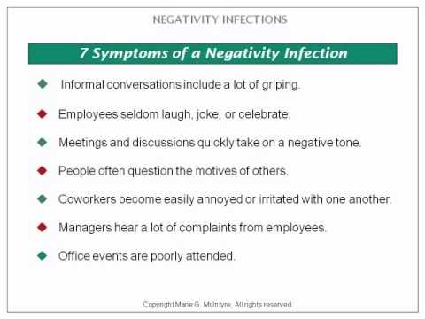 negativity in a workplace Although you might be able to tolerate it, you'll soon find that negativity in the  workplace can suck the positivity and energy out of even the.