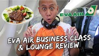 Eva Air Business Class & Lounge Review | Vlog #348