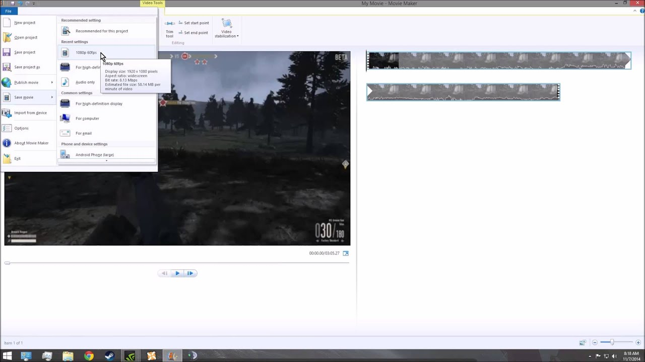 Windows Movie Maker Youtube 1080p 60fps Youtube