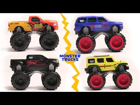 learn colors with monster trucks | monster truck song | toys