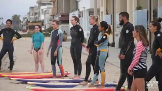 Cерф кемп в Лос Анджелесе! + Пример урока серфинга для начинающих