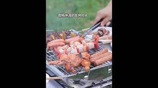 야외용 숯불 바베큐그릴/휴대용 가정용 훈제 고기그릴/