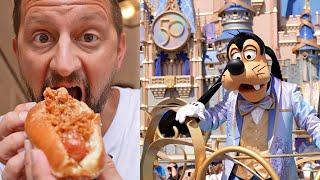 Happy 50th Anniversary Walt Disney World!   Dessert Hot Dog, Fireworks & More Celebration Fun!