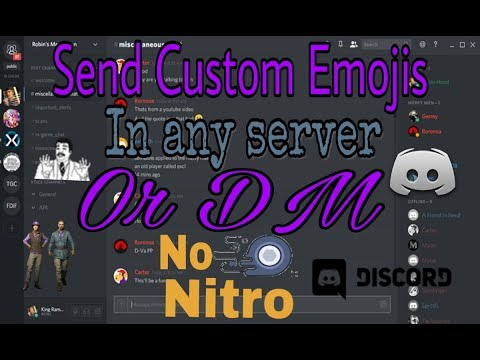 How to use Custom Emotes on Discord without Nitro 2018!!!ANDROID DISCORD