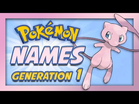 Pokemon Origin - Generation 1 Pokemon Names