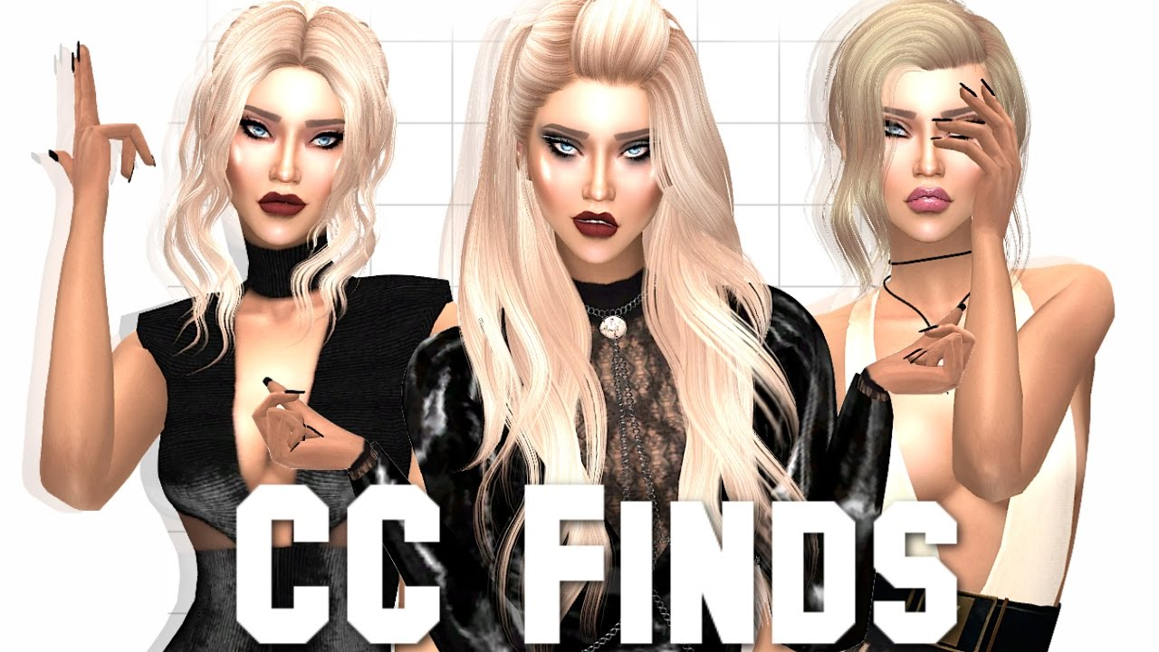 The Sims 4 Alpha Cc Finds Make Up Hair Fashion Amp More Youtube