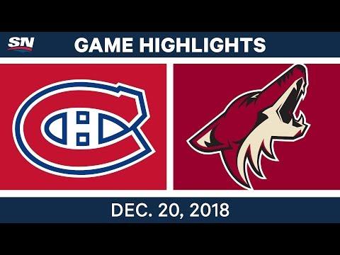 NHL Highlights   Canadiens vs. Coyotes - Dec 20, 2018