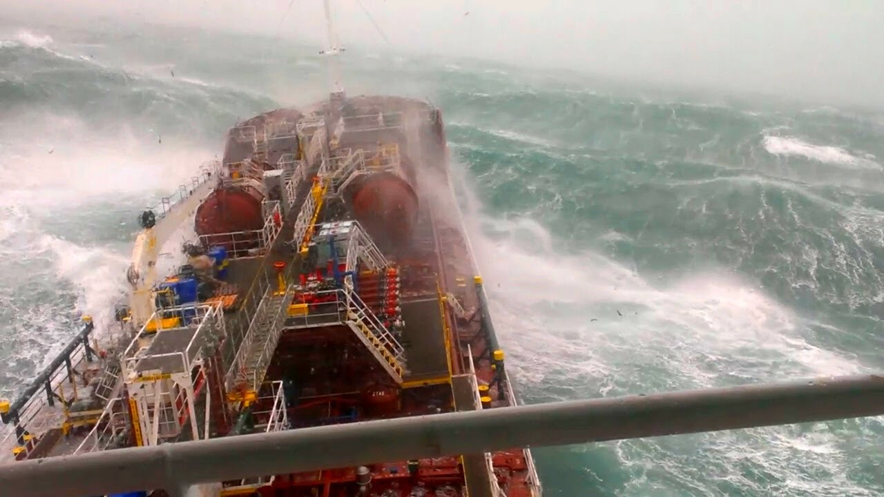 Ship in Storm [ASMR] | 3 Days CAUGHT in a STORM FORCE 12 + MONSTER WAVES in the North Atlantic!