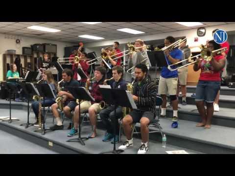 The Warner Christian Academy Velvet Blues band practice