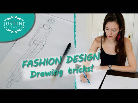 How To Draw Fashion Designer Tricks Fashion Drawing Tutorial Justine Leconte Youtube