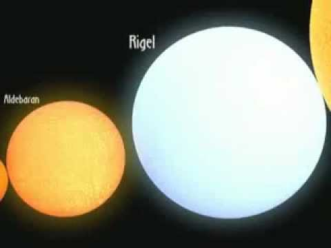 Сравнение размеров звёзд и планет(Захватывает).flv