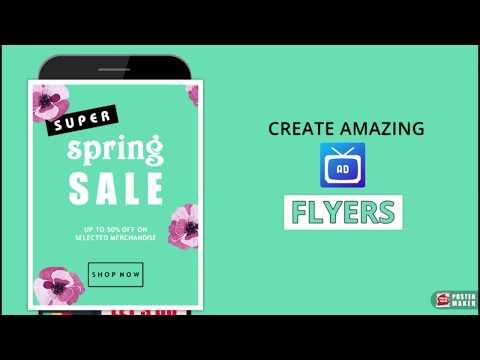 poster maker flyer designer ads page