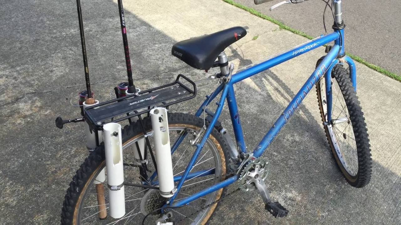 fishing pole holder for bike youtube