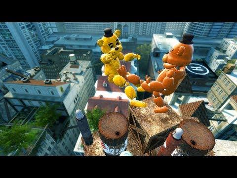 Garry's Mod not ordinary ragdolls/ FNAF2 Mod [Freddy VS Golden Freddy] thumbnail