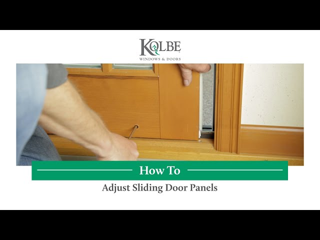 How to Adjust Sliding Door Panels