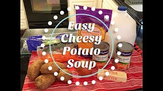 COOK WITH ME / Easy Cheesy Potato Soup Recipe