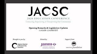 Opening Remarks and Legislative Update